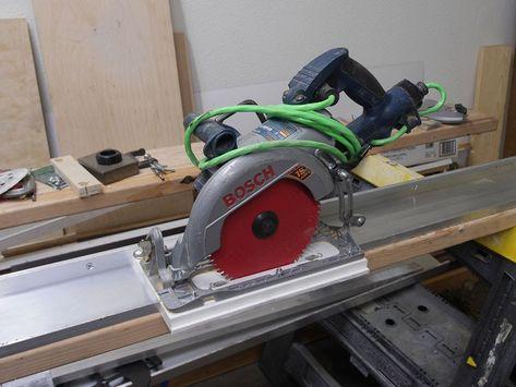 How To Make Aluminum Guide Rail For Your Circular Saw Napravlyayushaya Shina Circular Saw Woodworking Best Circular Saw