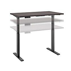 Bush Business Furniture Move 60 Series 48 W X 30 D Height Adjustable Standing Desk Storm Gray Black Base Standard Delivery Business Furniture Furniture Global Office Furniture