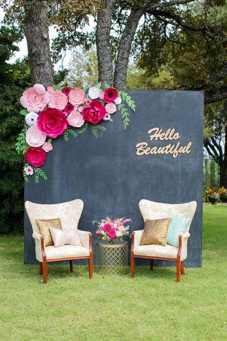 Ideas de fondos para las fotos de los invitados en la Boda | El Blog de una Novia | #boda #fiesta #invitados