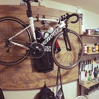 壁 天井 板壁 Diy ロードバイクディスプレイ ラブリコ 自転車 などの