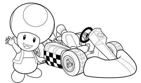 Coloring Pages Mario Kart Coloriage Mario Kart Coloriage Mario