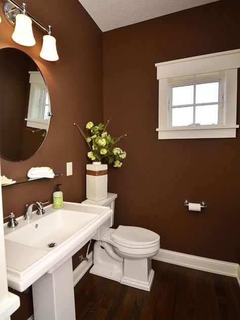 Wonderful wall color - I just hope there's enough light in the absence of the camera's flash.  Like small bathroom window - especially its wide white frame... Get more ideas for colors for your bathroom at http://www.bathroom-paint.net/bathroom-paint-color.php
