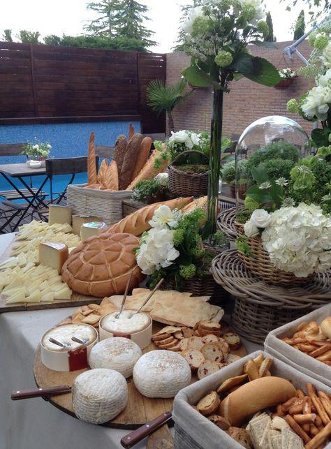 mesa pan y queso