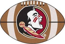 FANMATS NCAA Florida State University Seminoles Nylon Face Mascot Rug
