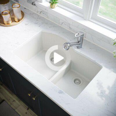 Mr Direct Low Divide Granite Composite 33 L X 22 W Dubbele Wastafel Undermount Kitchen S Undermount Kitchen Sinks Double Kitchen Sink Composite Kitchen Sinks