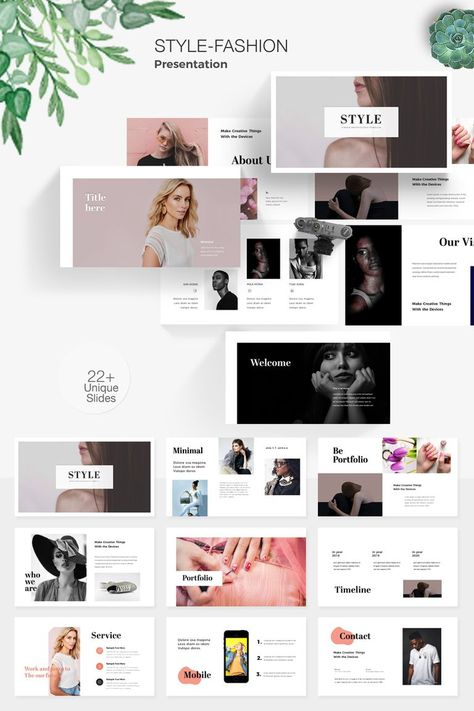 Style Fashion Powerpoint Template Powerpoint Design