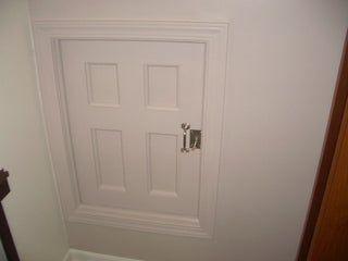 Project Coraline Build An Attic Door W Skeleton Lock Attic Doors Attic Remodel Attic Bathroom