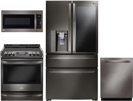 4 Piece Kitchen Appliances Package With Lmxs30796d 36 French Door Stainless Steel Kitchen Appliances Kitchen Appliance Packages Black Stainless Steel Kitchen