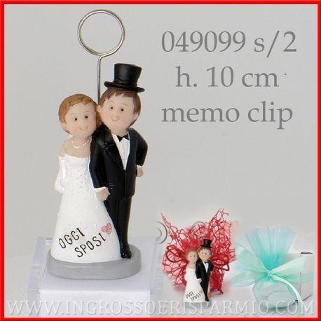 Segnaposto Matrimonio Originali Economici.Memoclip Segnaposto Matrimonio Con Coppia Sposo Sposa Originali