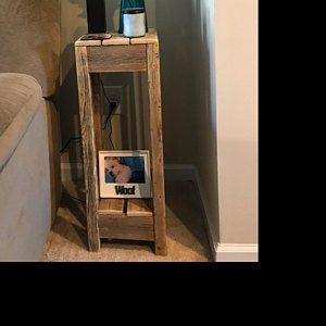 Emily Ruebel Added A Photo Of Their Purchase Farmhouse Sofa Table Rustic Bookshelf Unique Console Table