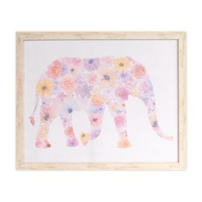 "Elephant Colourful wall art printed on canvas 16/'/' X 16/"""