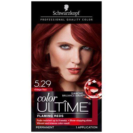 Schwarzkopf Color Ultime Permanent Hair Color Cream 5 29 Vintage Red Walmart Com Hair Color Cream Schwarzkopf Color Schwarzkopf Hair Color