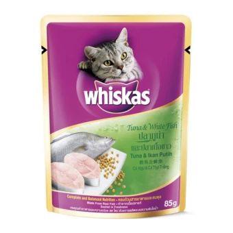 อย าช า Whiskas Pouch Tuna White Fish อาหารแมวชน ดเป ยกส ตรปลาท น าและปลาเน อขาว 85 กร ม 96 ซอง ราคาเพ ยง 1 240 บาท เท าน น ค ณสมบ ต ม ด งน อร อยจากเ