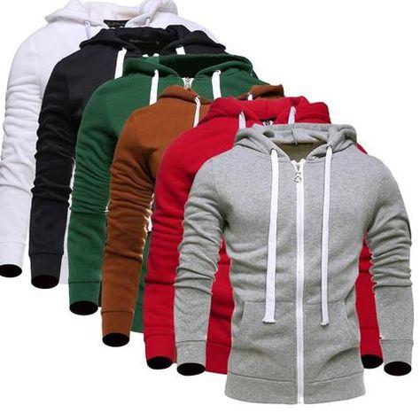 Hoodies Men 2017 Brand Male Long Sleeve Hoodie Solid Lovers Sweatshirt Mens Cardigan Moletom Masculino Hoodies Slim Tracksuit KZ