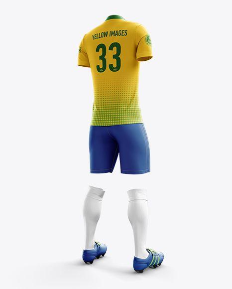 Download Men S Full Soccer Kit With Mandarin Collar Shirt Mockup Hero Back Shot In Apparel Mockups On Yellow Images Object Mockups Shirt Mockup Clothing Mockup Soccer Kits