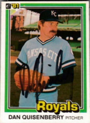 1981 Donruss Dan Quisenberry Baseball Autographed Trading Card Baseball Trading Cards Baseball Baseball Cards