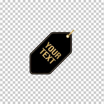Tag Label Flat Icon For Business With Black Gold Png And Vector