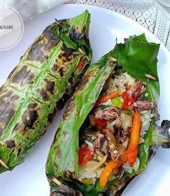 Nasi Bakar Cumi Asin Pedas Resep Masakan Resep Makanan Asia Resep Makanan