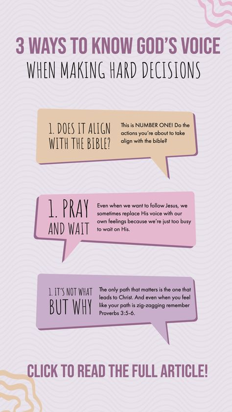 How to Know God's Voice When Making a Decision • Eat or Drink
