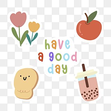 Kawaii Set Sticker Have A Good Day Bread Kawaii Sticker Sticker Set Png Transparent Clipart Image And Psd File For Free Download In 2021 Kawaii Stickers Sticker Set Kawaii Clipart