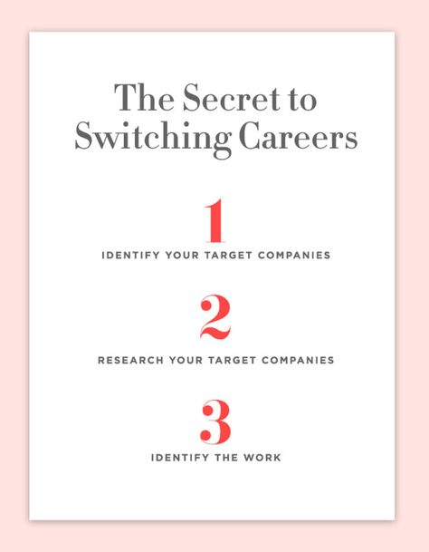 The 3 Steps for Making a Career Change