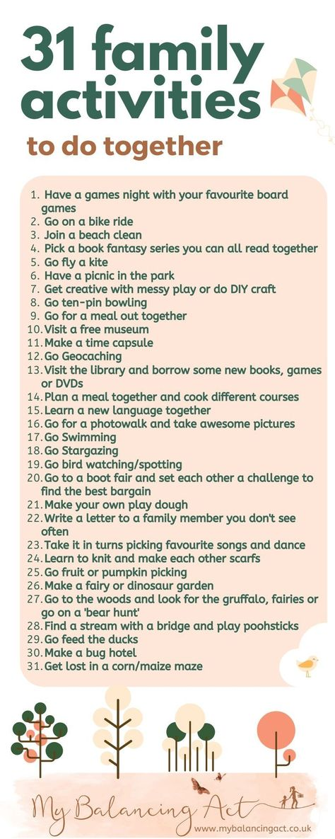 31 Family Activities to do together