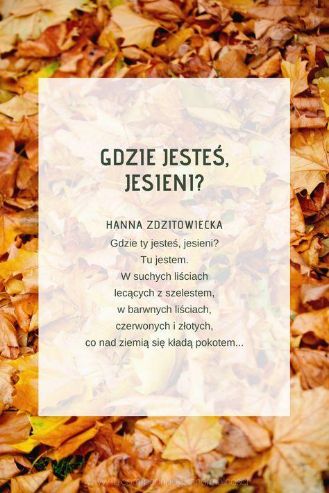 Wiersz Jesienny Jesień Wiersze Dla Dzieci Wiersze Dla
