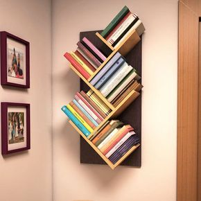 Branch Shelf Wall Library Book Stand