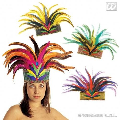 Rio De Janeiro Feather Crown Hat for South American Brazil Brasilian Carnival Fancy Dress Accessory WIDMANN http://www.amazon.co.uk/dp/B00VIB55O6/ref=cm_sw_r_pi_dp_ddtiwb0D7PGRP