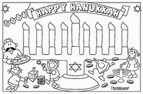 4 Hanukkah coloring pages you can print and share with your kids | 311x474