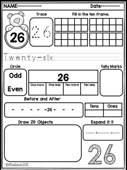 Numbers Worksheets 21 40 And Assessment Nastaran S Resources Math Methods Free Math Worksheets Learning Math