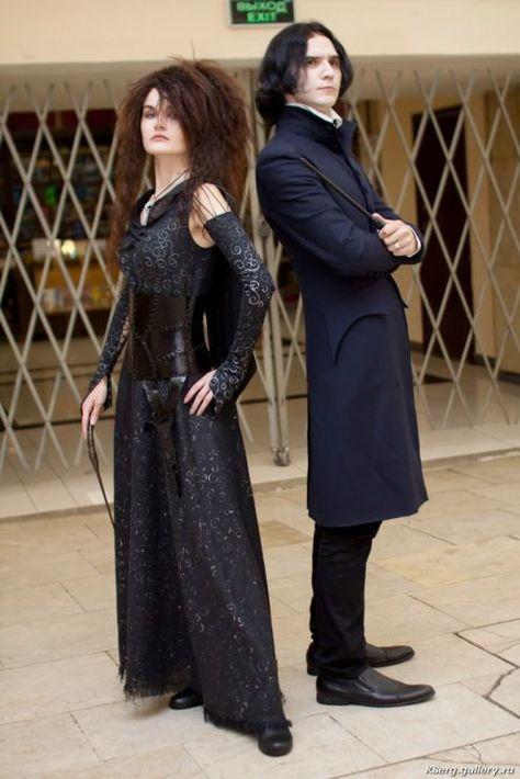 Bellatrix Lestrange and Severus Snape cosplay by CharlieHotshot. on halloween cosplay