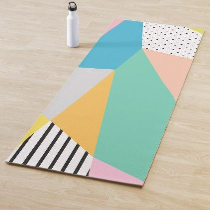 Modern Colorful Abstract Pattern Yoga Mat Yogamats Yoga Yoga