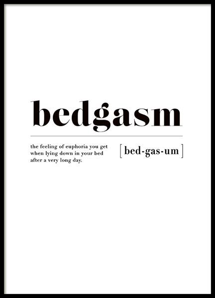 Bedgasm Poster in the group New in at Desenio AB (3345)