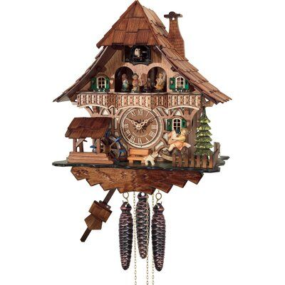 River City Clocks One Day Musical Forest Cuckoo Wall Clock Cuckoo Clock Clock Black Forest House River city cuckoo clocks