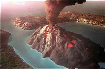 L Eruption Volcanique De L Ile De Santorin Par Bruno Ressuche Ile De Santorin Santorin Volcan