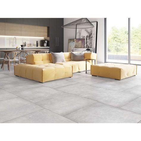 Floor Tile Penthouse Gray 80x80cm Rectified 80x80cm Floor Gray Penthouse Rectified Tile In 2020 Diy Patio Furniture Tile Bedroom Flooring