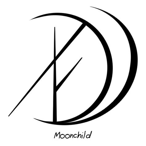 """"""" Thank you if you do and have a nice day😊 Answer: """"Moonchild"""" sigil You have a lovely day as well! Sigil requests closed until Saturday. Cool Symbols, Wiccan Symbols, Magic Symbols, Viking Symbols, Egyptian Symbols, Viking Runes, Ancient Symbols, Unique Symbols, Wiccan Tattoos"""