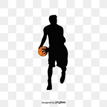 Silhouette Elements Of Basketball Players Clipart Basketball Athletic Sports Creative Png And Vector With Transparent Background For Free Download Basketball Players Silhouette Basketball