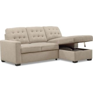 Super Chatman 2 Piece Sleeper Sectional With Chaise In 2019 Ncnpc Chair Design For Home Ncnpcorg