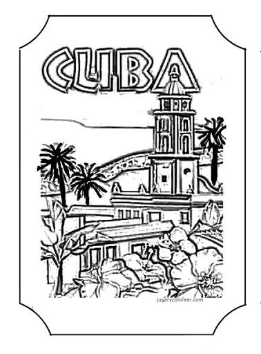 Cuban Flag Coloring Page Flag Coloring Pages Cuba Flag