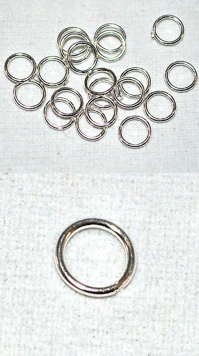 300 Open Split Jump Rings Connectors Silver Gold Pewter Plated Jewelry Findings