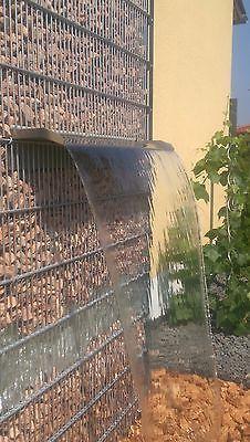 Gabionen Edelstahl Wasserfall 450 Koi Teich Garten Speier ...