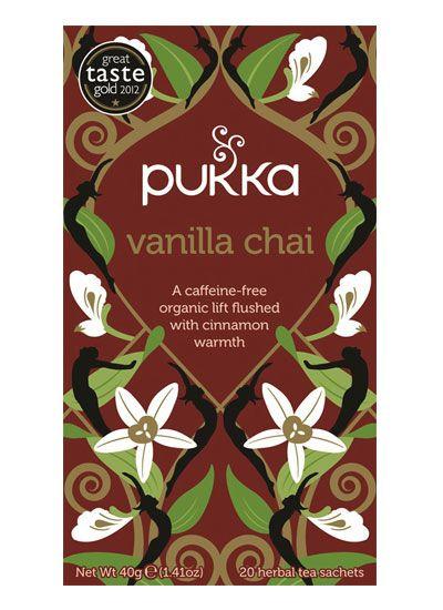 Pukka Vanilla Chai Tea. Best herbal chair tea there is.