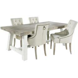 Essgruppe Anis Mit Ausziehbarem Tisch Und 4 Stuhlenwayfair De Esstisch Stuhle Mobelideen Esszimmerstuhl