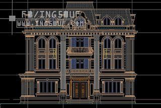 خربشات مهندس مخططات معمارية فيلا كلاسيك 2 اوتوكاد Dwg Autocad Architecture Sketch Autocad Drawing