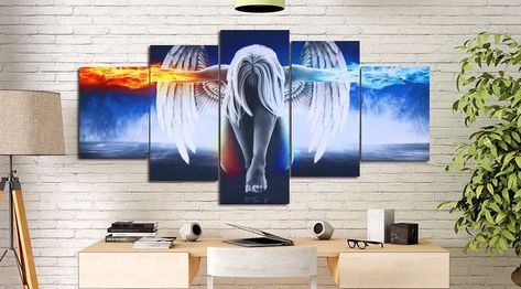 HD Print Oil Painting Home Decor Art on Canvas Chicago Bears Unframed