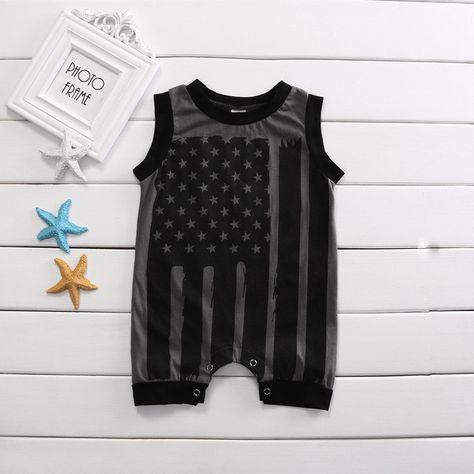 Peace Love Vegan Baby Newborn Crawling Clothes Sleeveless Onesie Romper Jumpsuit Black