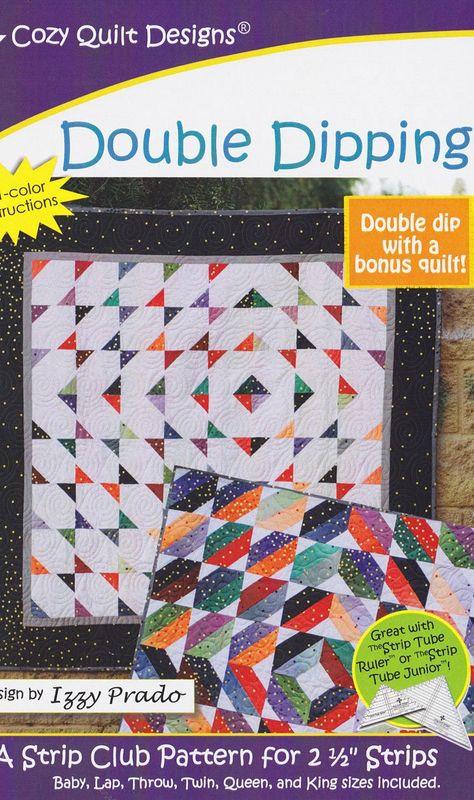 Cozy Quilt Designs Strip Club-Muster spitze Streifen Sterne inkl. Anleitung f/ür f/ünf Projektgr/ö/ßen