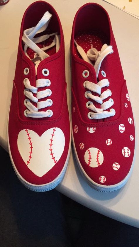Baseball shoes my daughter painted